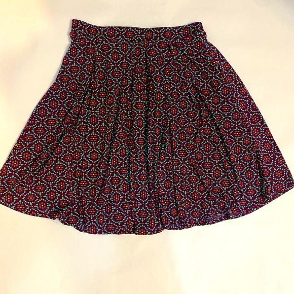 LulaRoe Madison kaleidoscope print A-line skirt